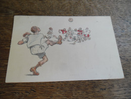 CPA Caricature Football, B.K.W.I 279 - 4, Illustrateur à Identifier - Illustrateurs & Photographes