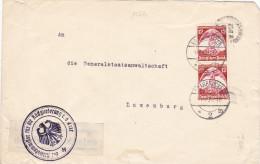 15379# LETTRE REICHSCOMMISSAR Obl SAARBRÜCKEN 1935 LUXEMBOURG ALLEMAGNE DEUTSCHLAND - Deutschland