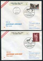 1974 Austria Wien Graz Zurich Switzerland Austrian Airlines First Flight Covers (2) - Airmail