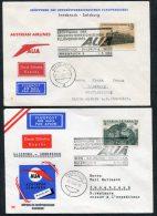 1963 Austria Innsbruck / Salzburg Austrian Airlines First Flight Covers (2) - Airmail