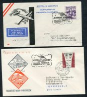 1959 Austria Innsbruck / Frankfurt Germany Austrian Airlines First Flight Covers (2) - Airmail