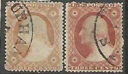 ETATS-UNIS  N° 4  ET 4a OBL - 1847-99 Unionsausgaben