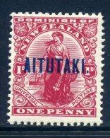 Aitutaki 1917-20 New Zealand Overprints - 1d Dominion HM (SG 20) - Aitutaki