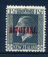 Aitutaki 1917-20 New Zealand Overprints - 1½d Slate KGV Typo Print HM (SG 21) - Aitutaki