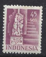 Indonesia (Dutch-Admin) 1949  45s  (*) MH Perf  12.5 (crease) - Indonesia