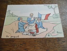 CPA De La Série Les Enfants De France, Le Paquet, Illustrateur H. Delalain, Militaria, Enfants Avec Drapeau Français - Illustratori & Fotografie