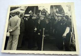2 GUERRA ITALO ETIOPIA -MARINA MILITARE PARTENZA TRUPPE FASCISTE PER LA GUERRA (BARI??) N° 6 AMMIRAGLIO - Guerre, Militaire