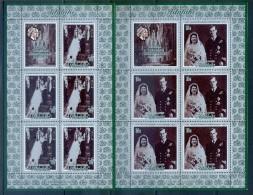 Aitutaki 1972 Royal Silver Wedding Sheetlet Set MNH - Aitutaki
