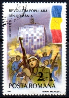 ROMANIA 1990 Popular Uprising  -  2l+1l   Soldiers And Crowd At Television Headquarters, Bucharest  CTO - Usado