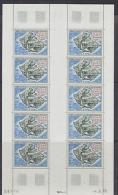 TAAF 1971 Ile De La Possession 1v Sheetlet Of 10 ** Mnh (F4308A) - Luchtpost