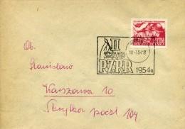 POLOGNE - POLSKA - LETTRE 1954 II ZJAZD - PZPR - Lettres & Documents