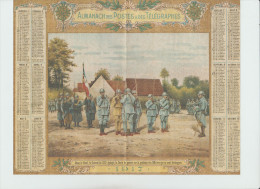 Almanach des Postes & T�l�graphes  - 1917 - le colonel �pingle la croix de guerre sur la poitrine des officiers -