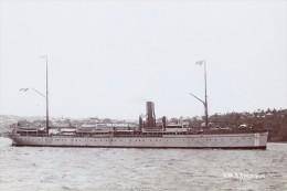 PACIFIQUE (1) B1899 Grey Version Messageries Maritime Line MODERN RPPC Postcard - Piroscafi