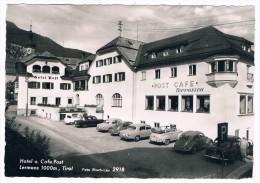 Ö-2611    LERMOOS : Hotel U. Cafe Post ( Mercedes, Volkswagen) - Lermoos
