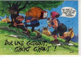Humor, Umorismo - Jux AK - Grüsse Vom Urlaub In Den Bergen, Edit.: Purzi - Humour