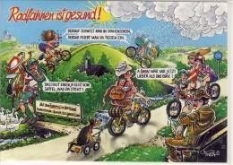 Humor, Umorismo - Jux AK, Cyclisme -  Gruesse Vom  Urlaub In Den Bergen, Rad Fahren, Cycling,  Edit: FratA - Cycling