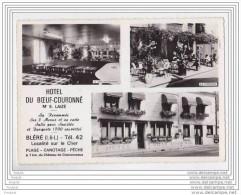 BLERE EN INDRE ET LOIRE HOTEL DU BOEUF COURONNE   MR  LAIZE PROPRIETAIRE - Bléré