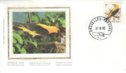 BUZIN / FDC SOIE / COB 2476 - 1985-.. Oiseaux (Buzin)