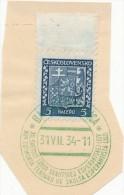 J4008 - Czechoslovakia (1934) Banska Bystrica: XII. World Esperanto League Scout Camp - Esperanto