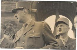 Photo Général De Gaulle Et Leclerc Et Un Négatif WW2 Guerre Militaire Soldat - War, Military