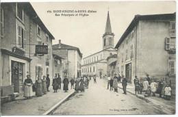 SAINT VINCENT DE REINS - Pue Principale Et L'Eglise - Autres Communes