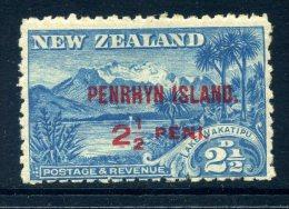 Penrhyn 1902 New Zealand Overprints - 2½d Lake Wakatipu LHM - Penrhyn