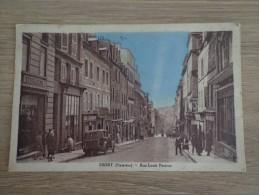 CPA 29 BREST RUE LOUIS PASTEUR COMMERCES VOITURE ANCIENNE - Brest
