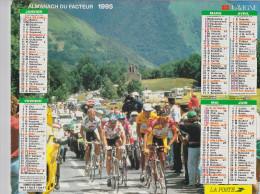 CALENDRIER ALMANACH DES PTT 1995 CYCLISME TOUR DE FRANCE RUGBY FRANCE PAYS DE GALLES