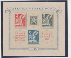 Czechoslovakia 1945 Scott # 310 Mi Block 6 MNH No Gum Army Soldiers Souvenir Sheet Catalogue $4.00 - Blocks & Sheetlets
