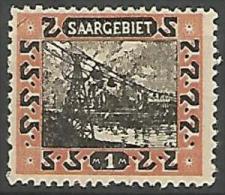 SARRE N� 62 NEUF* TRACE DE CHARNIERE / MH