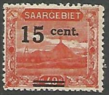 SARRE N� 72 NEUF* TRACE DE CHARNIERE / MH