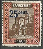 SARRE N� 74 NEUF* TRACE DE CHARNIERE / MH