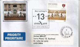 AUTRICHE. Spanische Hofreitschule. Célèbre école D'équitation Espagnole De Vienne, Sur Lettre Adressée En Andorre - Horses