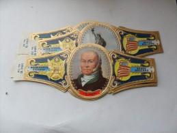 Washington Sigaren; Série Président Des USA (bleu) 6 Bagues - Bagues De Cigares
