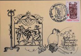 FRANCE 1981 - 5e Salon Antiquaires Brocanteurs - Monpellier Le 25 & 26 Avril 1981 - Parfait Etat -. - Fiere