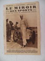 Le Miroir Des Sports N° 390 - 6.9.1927 Vélo/Ruby/Football/Athlétisme/Boxe/Tennis,autre Sports Mécanique - Livres, BD, Revues