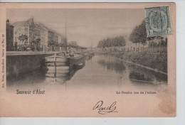 TP 53 Roulette Alost 1902 S/CP Souvenir D'Alost La Dendre Vue De L'écluse C.Alost 1902 PR2325 - Roller Precancels 1900-09