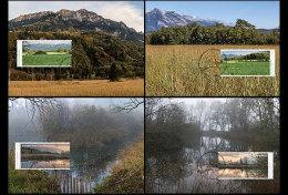 LIECHTENSTEIN 2015 FOUR MAXIMUM CARDS. Nature Reserves In Liechtenstein – I - Liechtenstein