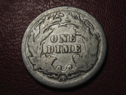 USA - One Dime 1876 CC 1034 - Federal Issues