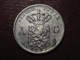 Indes Néerlandaises - 1/10 Gulden 1857 1005 - Dutch East Indies