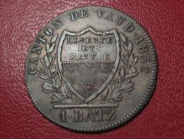 Suisse - Vaud - 1 Batz 1832 - Double Frappe 1010 - Switzerland