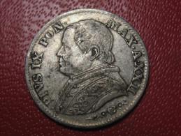 Vatican - 5 Soldi, 25 Centesimi Pie IX 1867 R - Anno XXII 1024 - Vatican