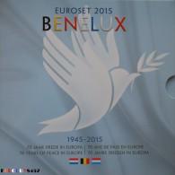 BENELUX SET 2015 - 3 X 8 MUNTEN VAN 1 C TOT 2 € 2015 - BELGIE - NEDERLAND - LUXEMBURG - STOCKVERKOOP !!!!!!!!!! - Belgium