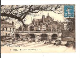 57  METZ N° 8 : Vue Prise De L'Ile De SAULCY  / CPA LL  Voyagée 1920 /Tres  Bon Etat // Faire Offre - Metz