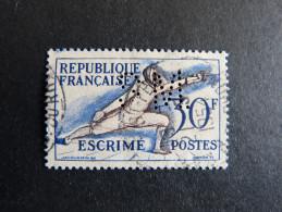 FRANCE S N° 962 1953 S.M. 172 Indice 3 Perforé Perforés Perfins Perfin Superbe !! - Perforés