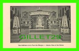 VILLAGE ST-CÉLESTIN, QUÉBEC - VUE INTÉRIEUR DE LA TOUR DES MARTYRS - INTERIOR VIEW OF THE SHRINE - - Autres