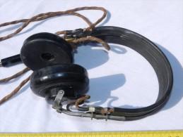 ECOUTEURS RADIO FABRICATION SOPOS  - TRES BEL ETAT  ---------- - Radios
