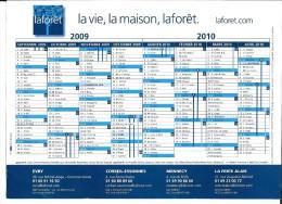 Calendrier publicitaire. Lafor�t, agences immobili�res, Essonne, 2009-2010.