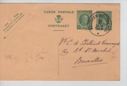 Entier CP 20 C+5c  Houyoux C.Peteghem(Audenaerde) En 1926 V.Bruxelles PR2335 - Stamped Stationery