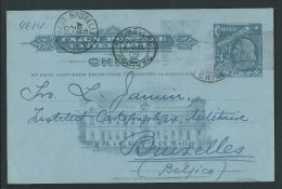 Entier Postal  (CHILI) écrit En Esperanto.  Circulé En 1909.  Voir Descriptif . 2 Scans. - Esperanto
